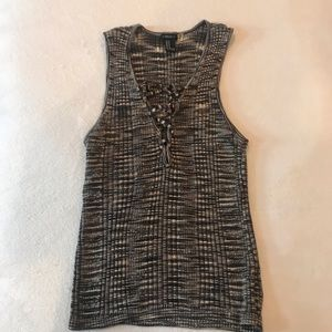 Forever 21 Knot Lace Up Tank